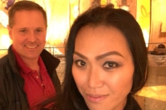 Casino trip - Danielle Synera (Sarun Khunaruangdet) and Kenneth Newman at Mohegan Sun Casino on Thanksgiving Day, 2015